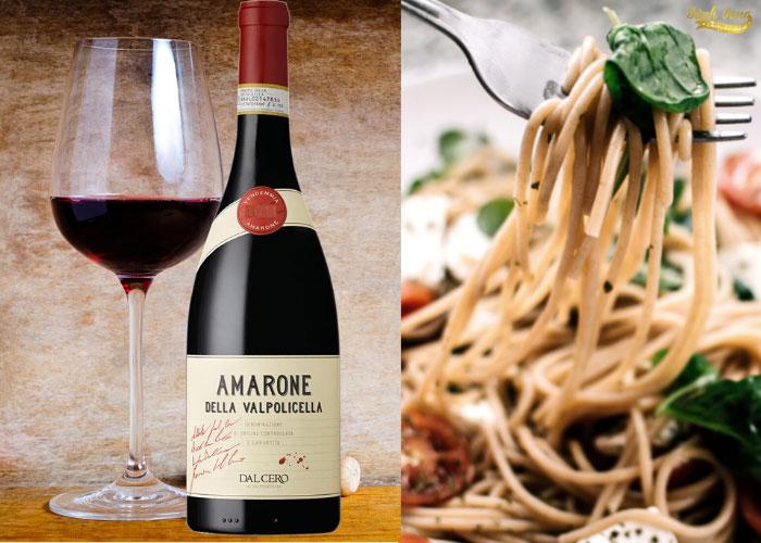 Món ăn kết hợp với Vang Amarone