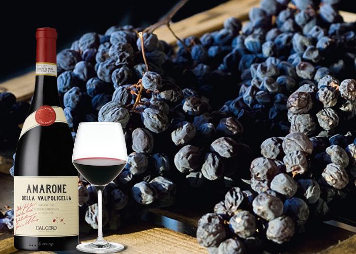 Rượu Vang amarone làm từ nho khô